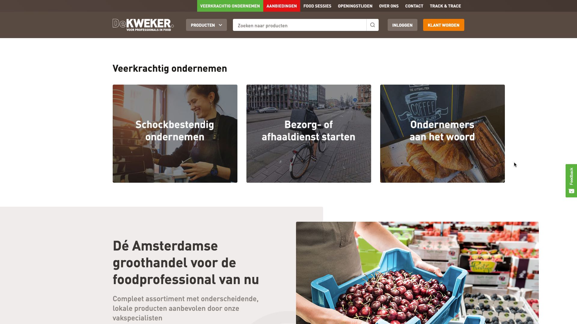 De Kweker voor professionals in food